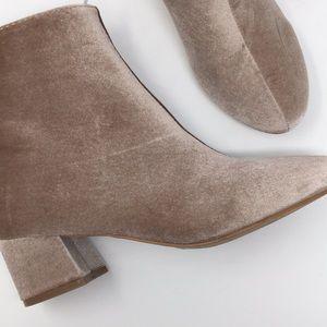 Shoes - NWT new pink blush velvet block heel bootie 7/8